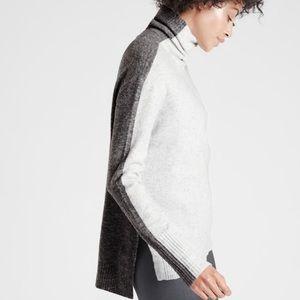 Athleta New Transit Colorblock Turtleneck Sweater